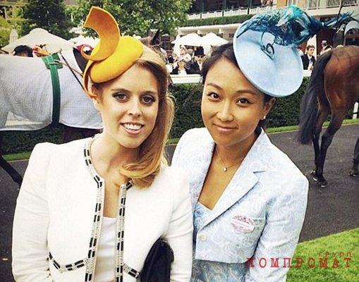 Жена Евгения Ключарева Вероника Чу (справа) с принцессой Беатрисой