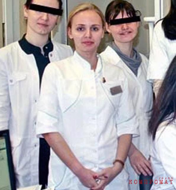 Аспирантка Мария Путина (по центру) в Эндокринологическом научном центре