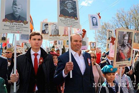 Глава Чувашии Михаил Игнатьев и его сын Иван