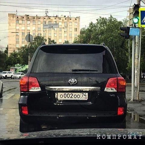 Служебный автомобиль Владимира Мякуша