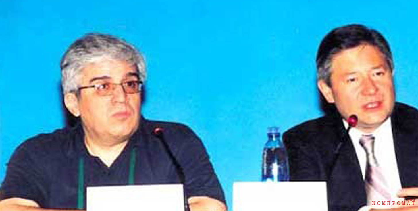 Радик Эльчиян (слева) и Леонид Рейман, министр связи в 1999-2008 гг.