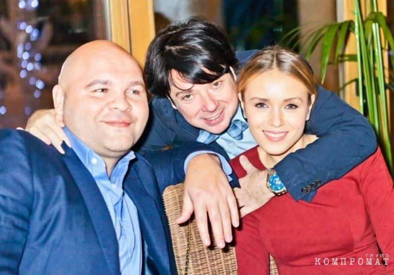 Сергей Говядин, Валентин Юдашкин и Ксения Сухинова