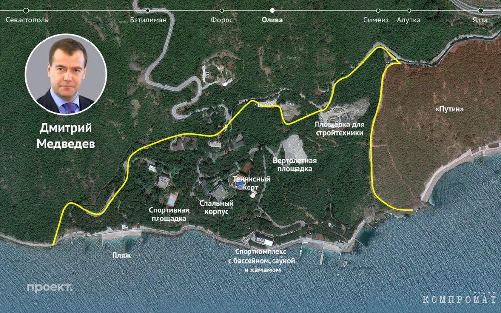 Примерный план территорий госдач № 9 и 10