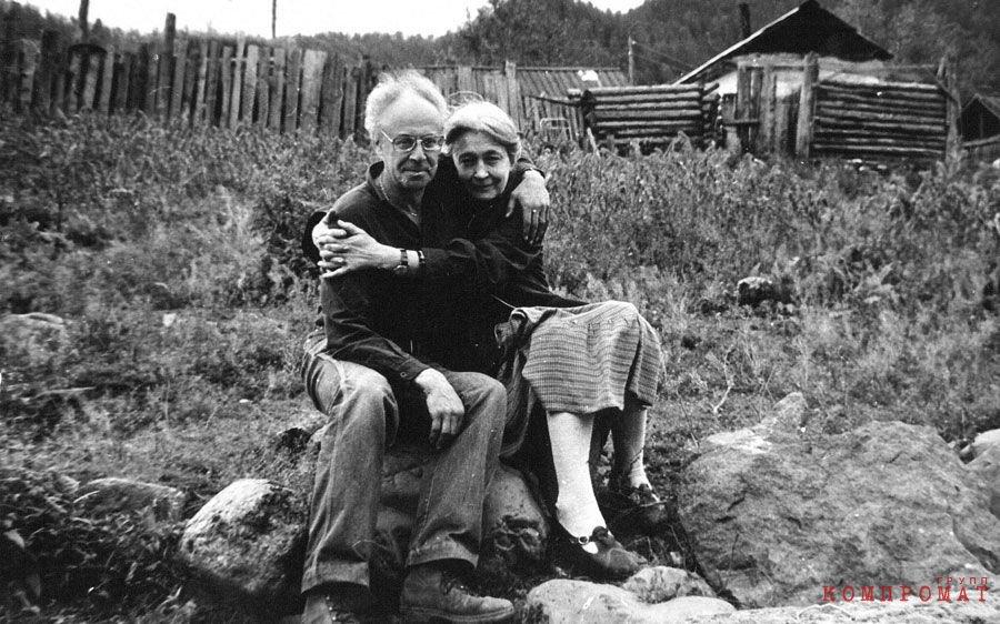 Феликс Светов с женой Зоей Крахмальниковой, 1983, Усть-Кан, республика Алтай