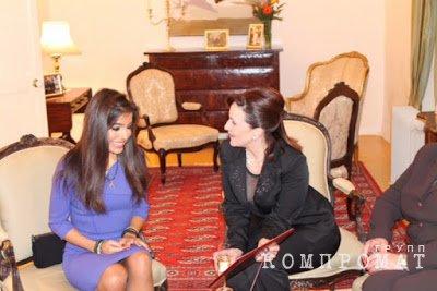 Лейла Алиева (слева) и Мишель Мускат