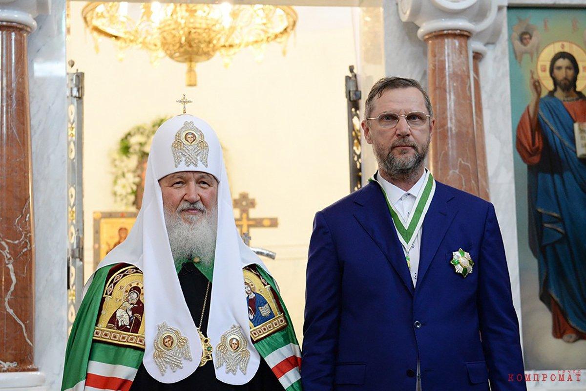 Патриарх Кирилл и Константин Голощапов