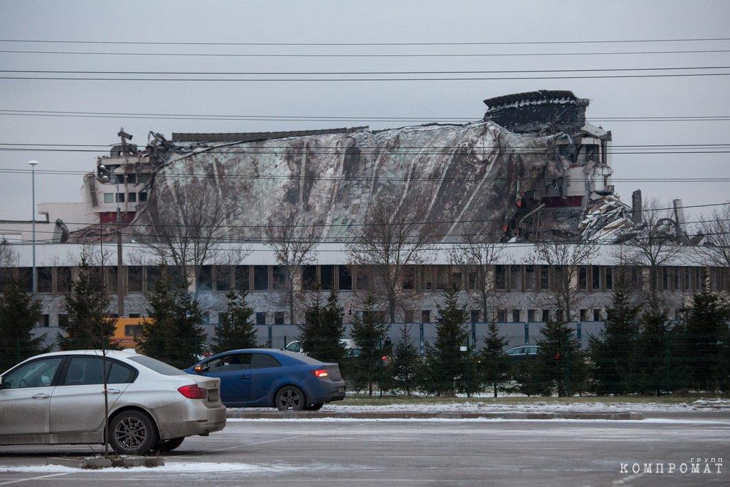 Разрушенный СКК на проспекте Юрия Гагарина