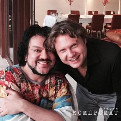 Филипп Киркоров и Александр Коган (справа)