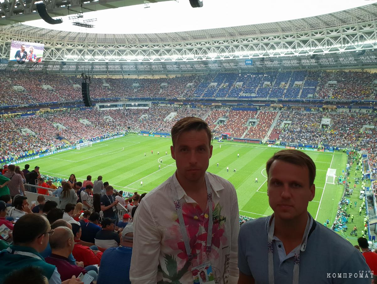 Сыновья Ристо и Рейон на стадионе в Лужниках