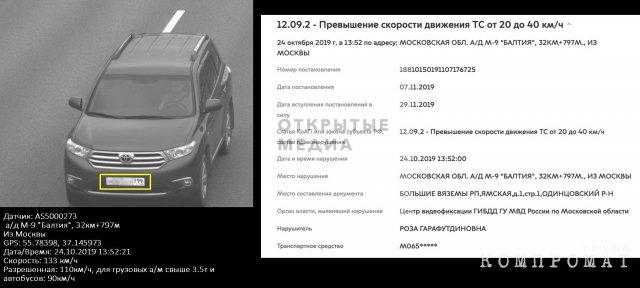 Машину Розы Хуснуллиной удалось найти, сопоставив данные службы судебных приставов и информацию с портала столичного правительства, на котором можно проверить штрафы за нарушение ПДД