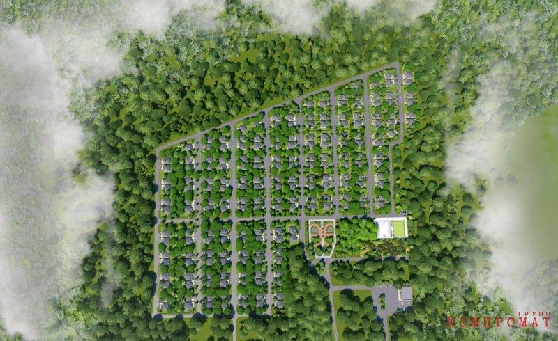 Генплан котеджного поселка «Петровский Парк»