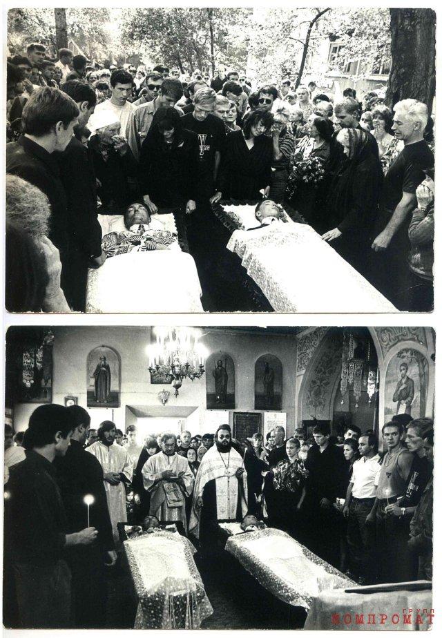 Отпевание и похороны убитых Наумова и Войтенко, отколовшихся от бригады Быкова