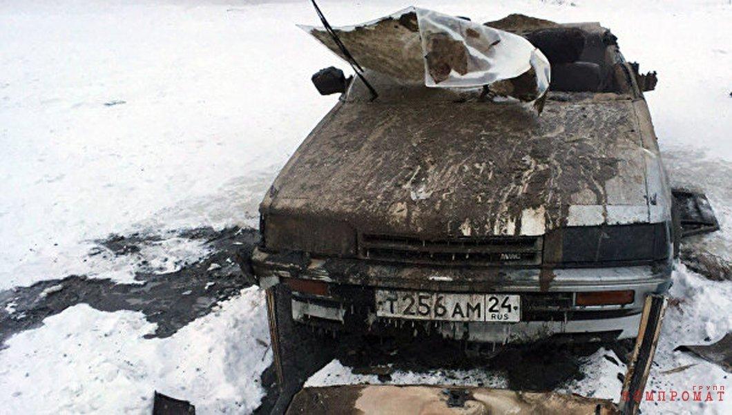 Поднятый со дна Енисея автомобиль спустя 20 лет