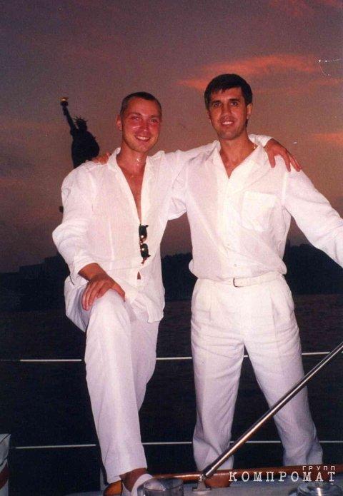 Глеб Войтенко и Анатолий Быков в Америке. Фото из архивов родственников