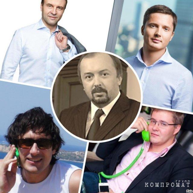 Сверху Зиновьев и Евдаков-младший. Снизу Кондрашин и Тюников. По центру Евдаков-старший