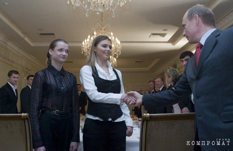 Алина Кабаева и президент Путин