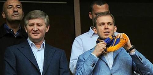 Слева направо: Игорь Крутой, Ринат Ахметов и Сергей Курченко