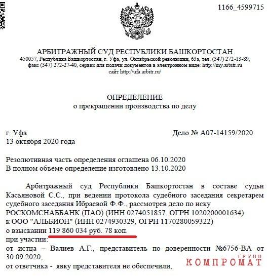 Роскомснаббанк Флюра Галлямова и его племянника Рифата Гарипова увёл 120 млн. на фирму мертвеца?