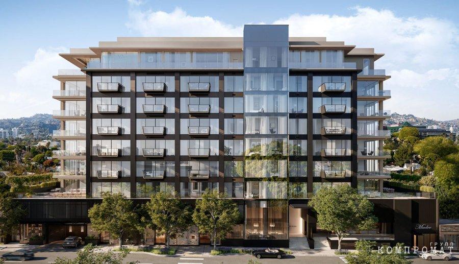 Достраивающийся многофункциональный комплекс в Лос-Анджелесе: у Serguie A Veremeenko здесь арендована коммерческая недвижимость начиная с 2011 года и до сих пор