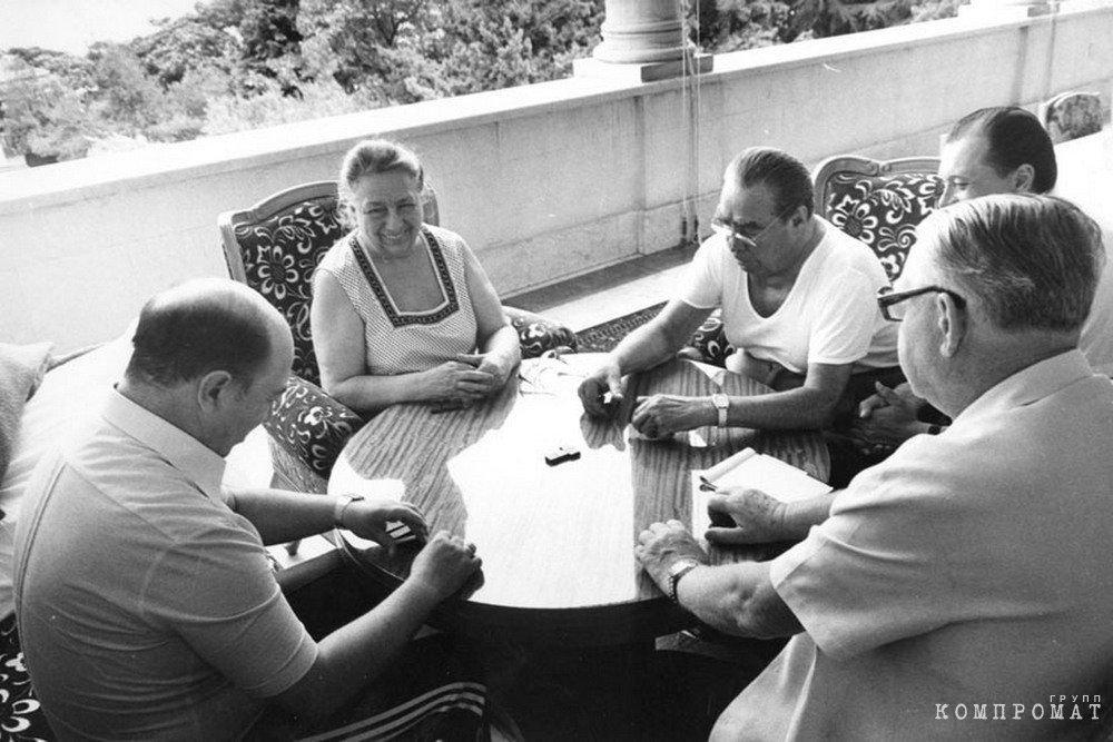 Леонид Брежнев на отдыхе в Крыму, 1981