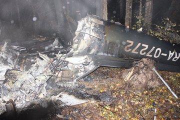 Место крушения вертолета с замгенпрокурора Сааком Карапетяном