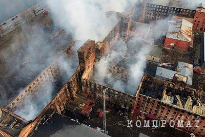 Пожар на Невской мануфактуре потушили