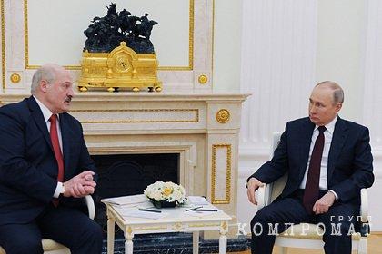 Кремль раскрыл детали встречи Путина и Лукашенко 28 мая