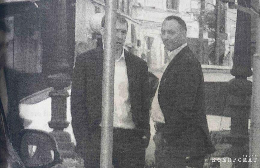 Захарченко и Удодов под наружным наблюдением фотография из материалов уголовного дела