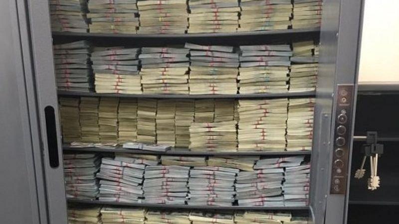 Часть денег, изъятых у Захарченко