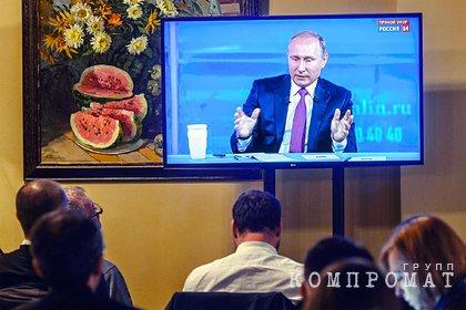 Названы самые популярные темы прямой линии с Путиным