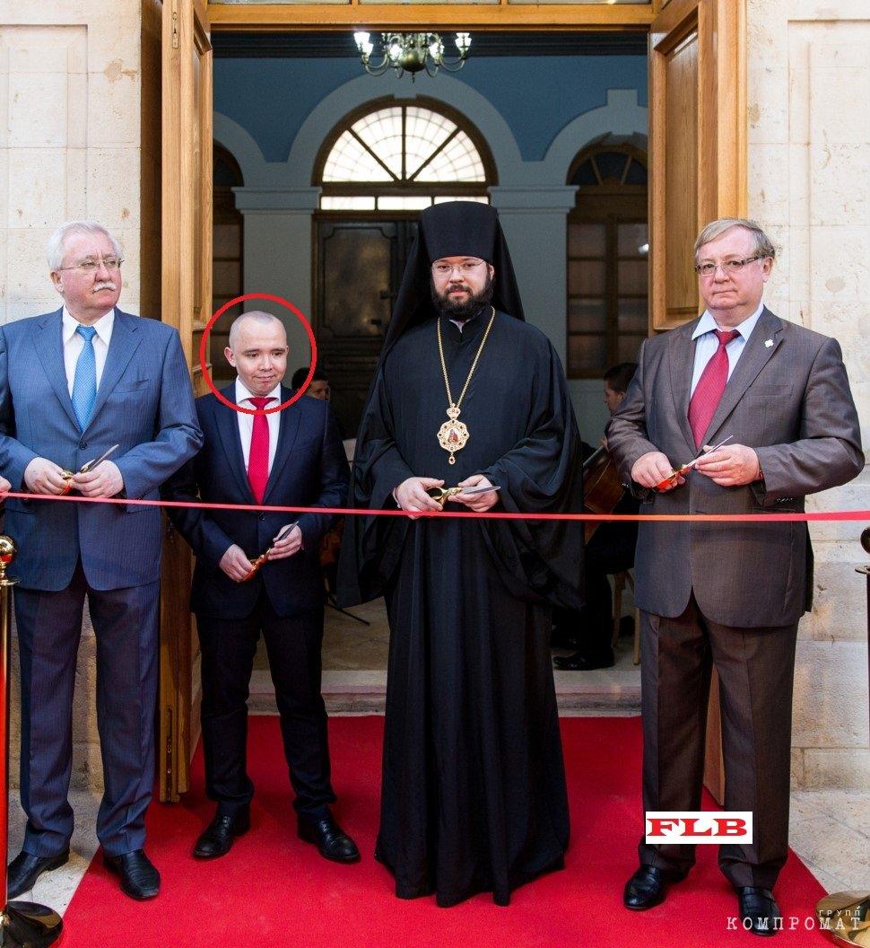 Иван Сердитов на открытии Сергиевского подворья РПЦ в Иерусалиме