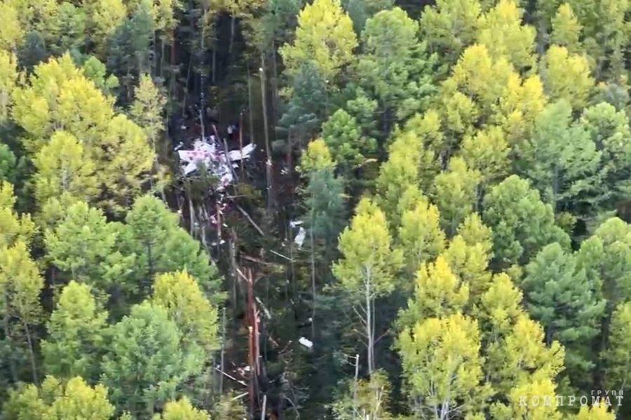 Место падения пассажирского самолёта L-410