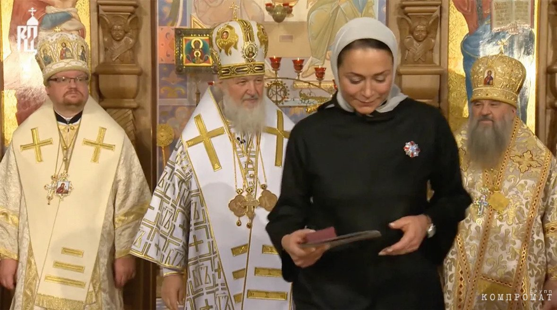 Светлана Полякова на церемонии вручения ордена преподобной Евфросинии, великой княгини Московской, III степени
