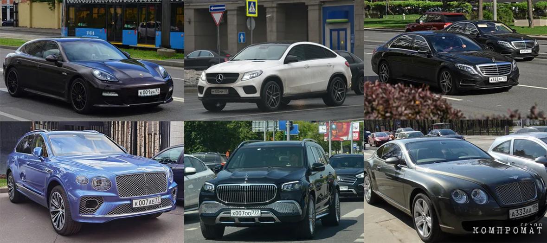 Автомобили Светланы Поляковой и её родственников