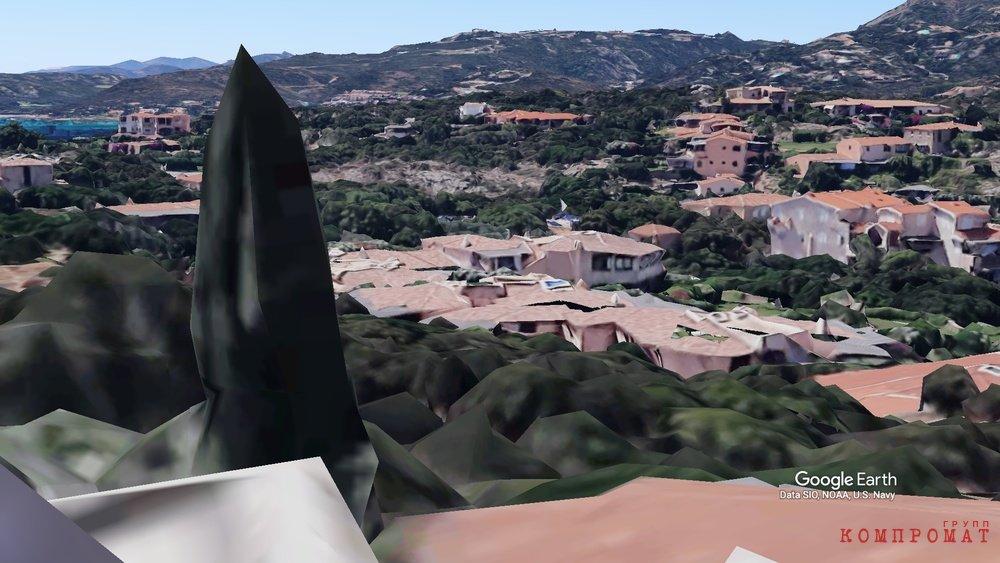 Вид с дачи Олега Дерипаски (Google Earth)