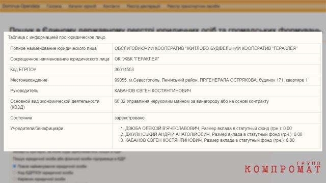 Украинские бизнесы Евгения Кабанова