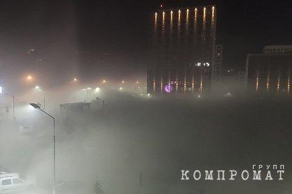 В российском регионе перекрыли дорогу из-за нулевой видимости от дыма
