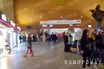 На вокзале в Петербурге нашли похожий на гранату предмет и оцепили вход в здание
